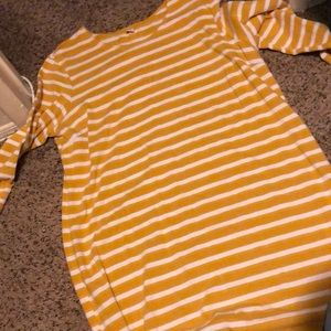 Old navy yellow stripped dress